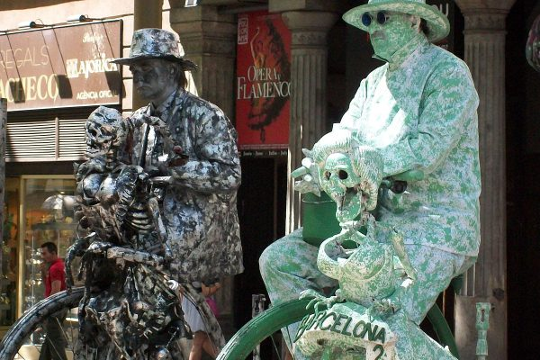 Linving Statues